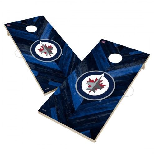 Winnipeg Jets Herringbone Cornhole Game Set