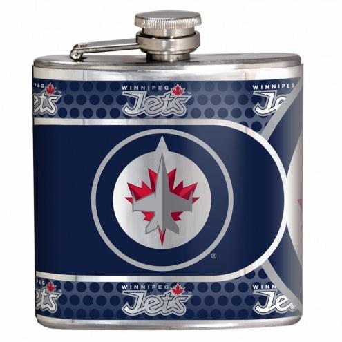 Winnipeg Jets Hi-Def Stainless Steel Flask