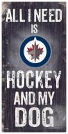 Winnipeg Jets Hockey & My Dog Sign