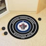 Winnipeg Jets Hockey Puck Mat