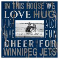 """Winnipeg Jets In This House 10"""" x 10"""" Picture Frame"""