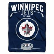 Winnipeg Jets Inspired Plush Raschel Blanket