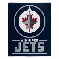 Winnipeg Jets Interference Raschel Blanket