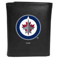 Winnipeg Jets Large Logo Leather Tri-fold Wallet