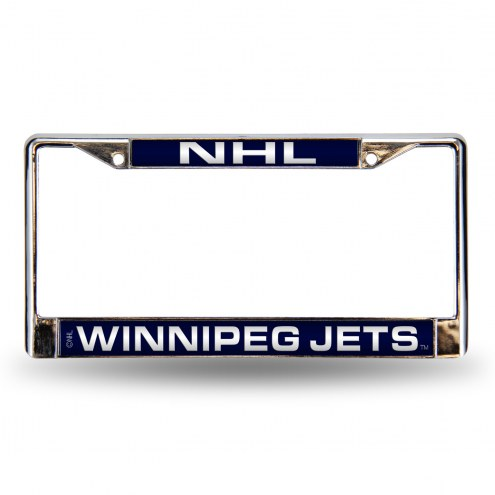 Winnipeg Jets Laser Chrome License Plate Frame