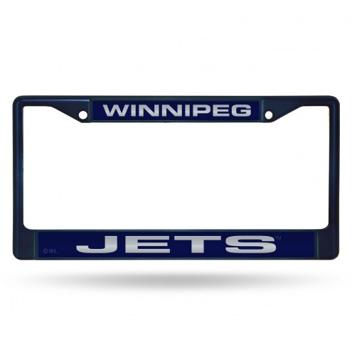 Winnipeg Jets Laser Colored Chrome License Plate Frame
