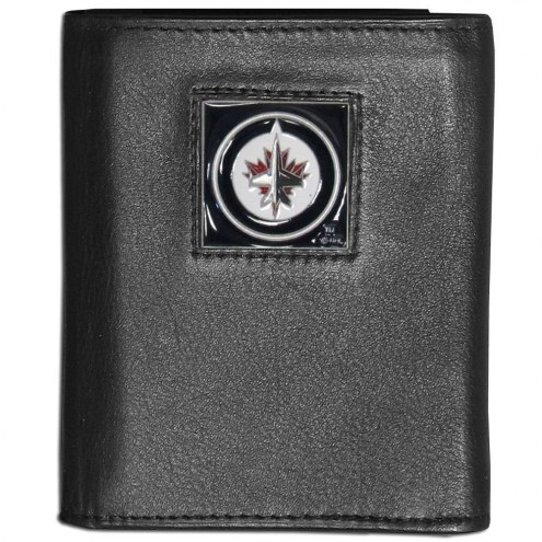 Winnipeg Jets Leather Tri-fold Wallet