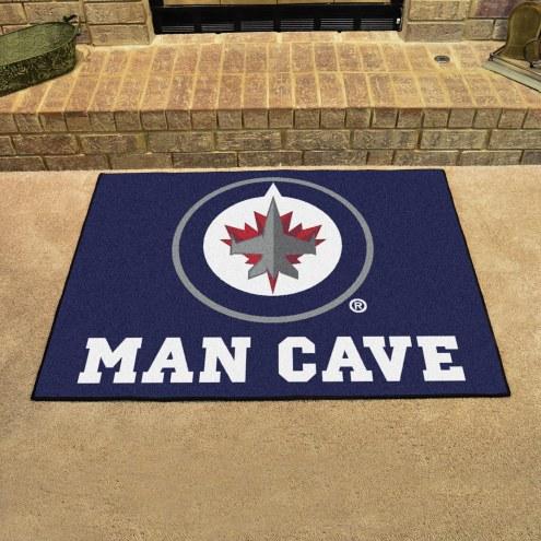 Winnipeg Jets Man Cave All-Star Rug