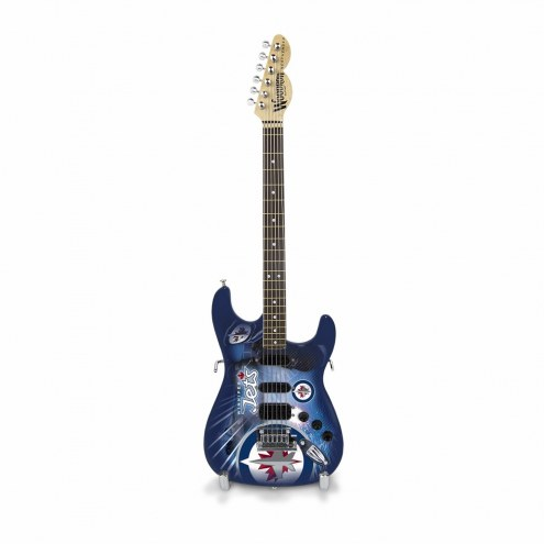 Winnipeg Jets Mini Collectible Guitar