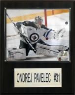 """Winnipeg Jets Ondrej Pavelec 12"""" x 15"""" Player Plaque"""