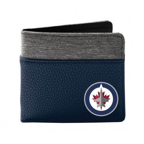 Winnipeg Jets Pebble Bi-Fold Wallet