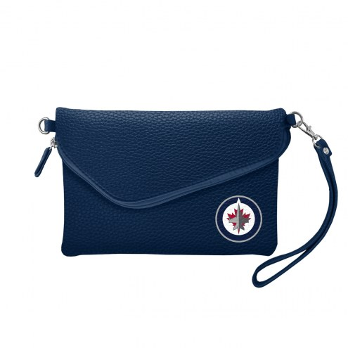 Winnipeg Jets Pebble Fold Over Purse