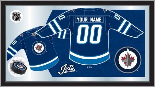 Winnipeg Jets Personalized Jersey Mirror