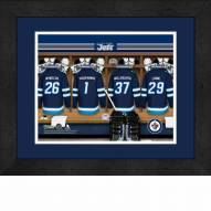 Winnipeg Jets Personalized Locker Room 13 x 16 Framed Photograph