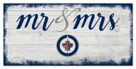Winnipeg Jets Script Mr. & Mrs. Sign