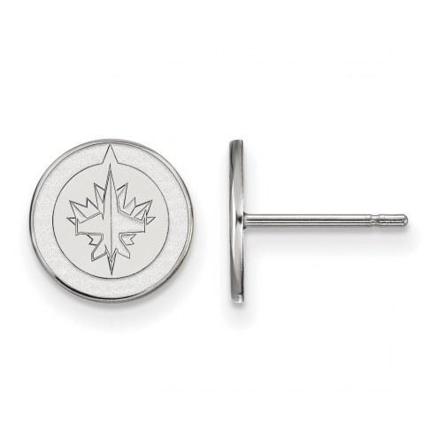 Winnipeg Jets Sterling Silver Extra Small Post Earrings