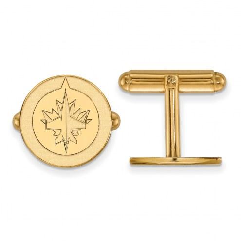 Winnipeg Jets Sterling Silver Gold Plated Cuff Links