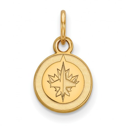 Winnipeg Jets Sterling Silver Gold Plated Extra Small Pendant