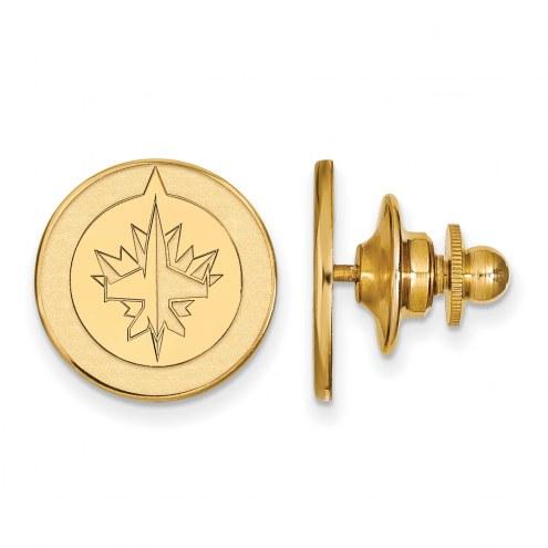 Winnipeg Jets Sterling Silver Gold Plated Lapel Pin