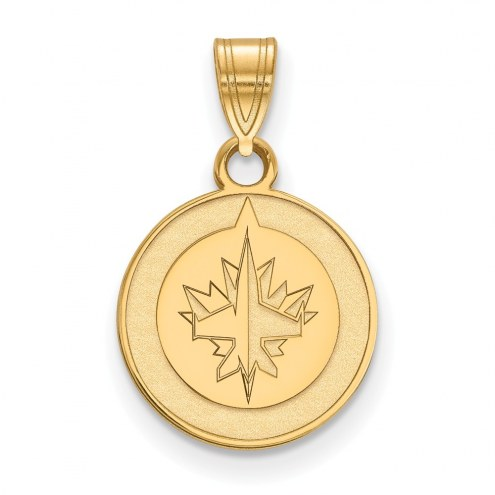 Winnipeg Jets Sterling Silver Gold Plated Small Pendant