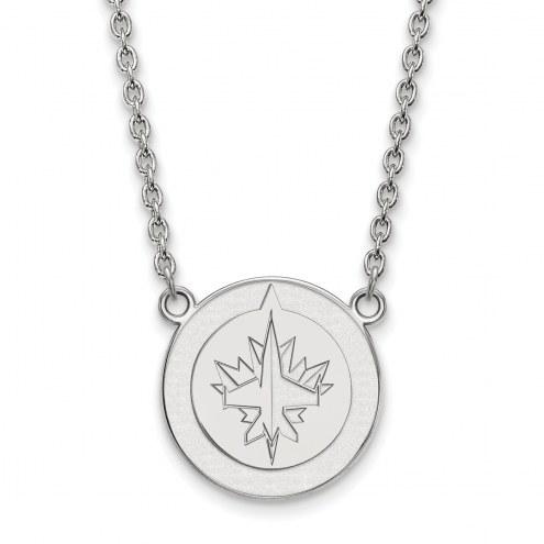 Winnipeg Jets Sterling Silver Large Pendant Necklace