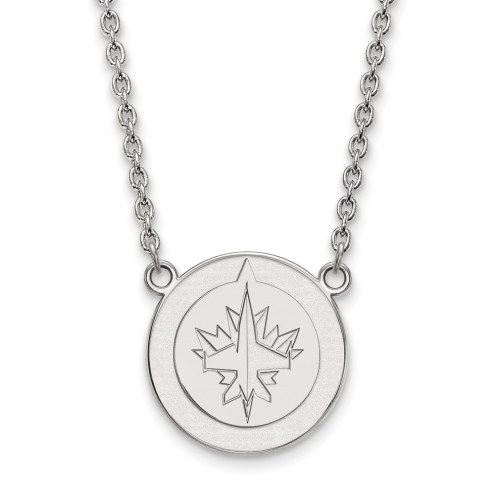 Winnipeg Jets Sterling Silver Large Pendant Necklace