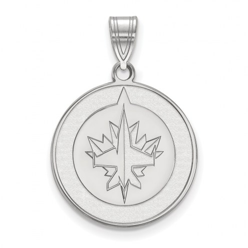 Winnipeg Jets Sterling Silver Large Pendant