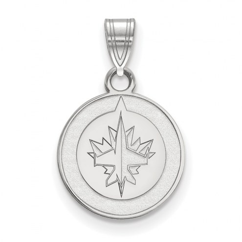 Winnipeg Jets Sterling Silver Small Pendant