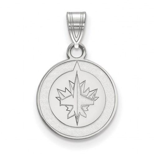 Winnipeg Jets Sterling Silver Small Pendant