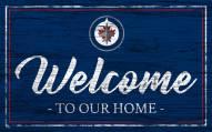 Winnipeg Jets Team Color Welcome Sign