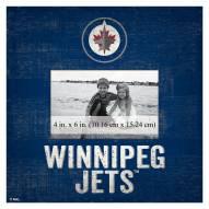 "Winnipeg Jets Team Name 10"" x 10"" Picture Frame"