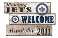 Winnipeg Jets Welcome 3 Plank Sign