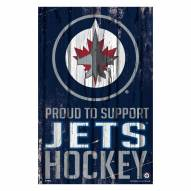 Winnipeg Jets Proud to Support Wood Sign
