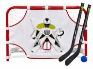 Winnwell Mini Hockey Goal Set with Sticks, Ball & Target - SCUFFED