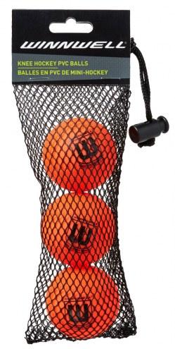 Winnwell PVC Knee Hockey Balls - Orange 3-Pack