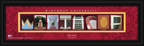 Winthrop Eagles Personalized Campus Letter Art