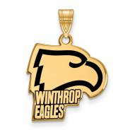 Winthrop Eagles Sterling Silver Gold Plated Large Enameled Pendant