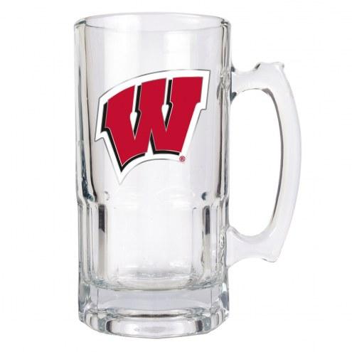 Wisconsin Badgers College 1 Liter Glass Macho Mug