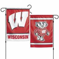 """Wisconsin Badgers 11"""" x 15"""" Garden Flag"""