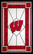 """Wisconsin Badgers 11"""" x 19"""" Stained Glass Sign"""