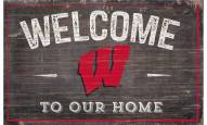 """Wisconsin Badgers 11"""" x 19"""" Welcome to Our Home Sign"""