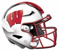 """Wisconsin Badgers 12"""" Helmet Sign"""