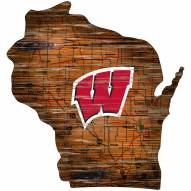 """Wisconsin Badgers 12"""" Roadmap State Sign"""