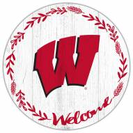 """Wisconsin Badgers 12"""" Welcome Circle Sign"""