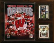 """Wisconsin Badgers 12"""" x 15"""" All-Time Greats Photo Plaque"""
