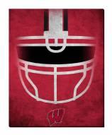 """Wisconsin Badgers 16"""" x 20"""" Ghost Helmet Canvas Print"""