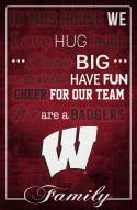 """Wisconsin Badgers 17"""" x 26"""" In This House Sign"""