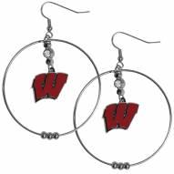 """Wisconsin Badgers 2"""" Hoop Earrings"""