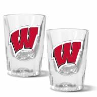 Wisconsin Badgers 2 oz. Prism Shot Glass Set