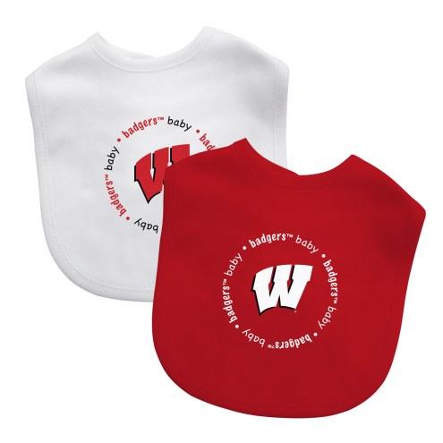 Wisconsin Badgers 2-Pack Baby Bibs
